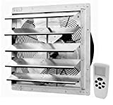 iLiving 18 Inch Smart Remote Shutter Exhaust Fan with Thermostat, Humidistat, Variable Speed, Timer, Wall...