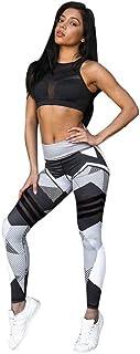 QUICKLYLY Yoga Mallas Leggins Pantalones Mujer,Mujeres Deportes Gimnasio Yoga Entrenamiento Mediados De Cintura Pantalones De Correr Gimnasio Leggings Elásticos