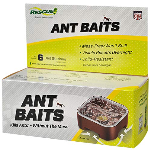 RESCUE! Ant Baits - Ant Killer, Indoor Use, Ant Trap Alternative - 6 Bait Stations