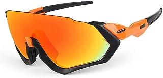 Gafas de sol Polarizadas Ciclismo Correr marco de los vidrios gafas de sol polarizadas Superlight de diseño for hombre y for mujer 3 lentes intercambiables de 6 colores pesca golf Correr Ciclismo
