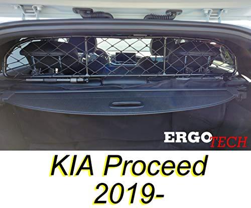 ERGOTECH Trennnetz Trenngitter für Kia Proceed RDA65-HXXS8, für Hunde und Gepäck. Sicher, komfortabel für Ihren Hund, garantiert!