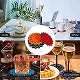 Naispanda 12er Set Filz Untersetzer, Getränke Untersetzer, Glasuntersetzer, Design Mehrfarbige Untersetzer für Getränke, Riegel, Tassen, Porzellantasse, Glastisch Untersetzer - 5