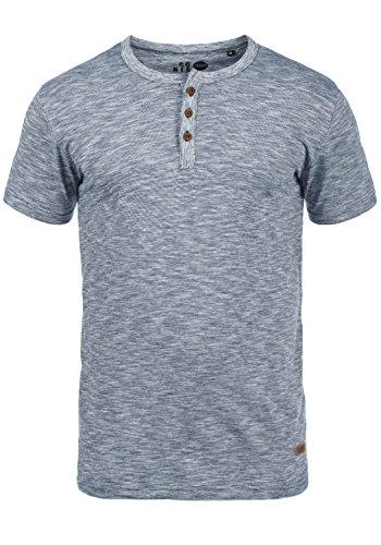 !Solid Sigos Herren T-Shirt Kurzarm Shirt Mit Grandad-Ausschnitt Aus 100% Baumwolle, Größe:M, Farbe:Insignia Blue (1991)