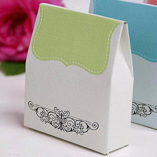 Efavormart 100 Tapestry Favor Box for Candy Treat Gift Wrap Box Party Favor Boxes Bridal Shower Anniverary Wedding Party-Sage Green