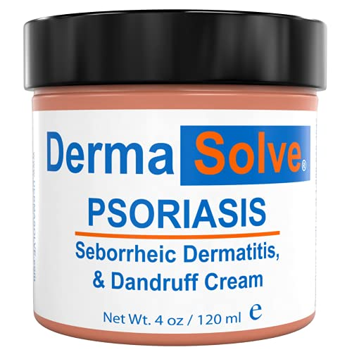 Extra Strength Psoriasis Cream | Seborrheic Dermatitis & Dandruff Lotion - Advanced Moisturizing Relief Formulated to Treat Itchy Flakey Inflamed Skin & Prevent Future Flares - 4.0 oz.
