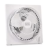 BLACK+DECKER Mini Box Fan – Tabletop Quiet 9 Inch Desk Box Fans Frameless BFB09W White...