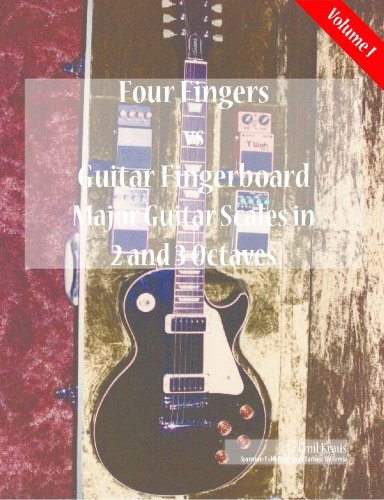 Major Scales in 2 and 3 Octaves (Four Fingers vs Guitar Fingerboard) (English Edition)