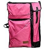 "Artoop Water-resistant Artist Portfolio Backpack Tote Bag for Art Storage and Traveling Size 26""x19"" Pink Color"