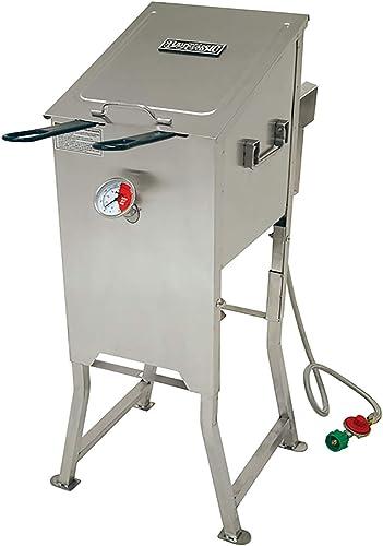 Bayou Classic 700-701 4-Gallon Bayou Fryer Stainless Steel