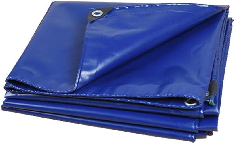 SJMYBB Bache Bleu Extérieure Bache Convient Les Voyages en Plein air Camping Home Pique-Nique véhicule Camping Alpinisme Cargaison Couverture (Taille   5  6m)