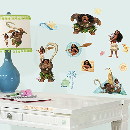 RoomMates 25 Stickers géants Vaiana Disney