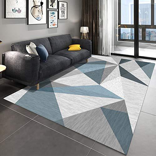 Stillshine. Geometry Marble Print Area Rugs Carpet Floor Mat Chair Mat Door Mat Washable Non-Slip Indoor Outdoor Living Room Bedroom Hallways Kitchen Carpet Rugs Pads Thin (blue,80 x160 cm)