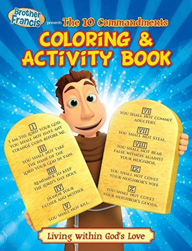 Coloring & Activity Book: Ep 16: The Ten Commandments (Brother Francis)