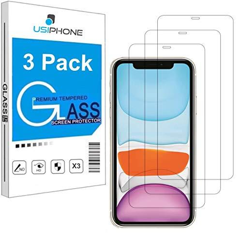"""Lot de 3 Verre Trempé pour iPhone XR, iPhone 11 (6.1"""") Film Protection écran HD [3 Pack] Anti Rayures - sans Bulles d'air - Ultra Résistant [0,33mm] Dureté 9H Glass"""