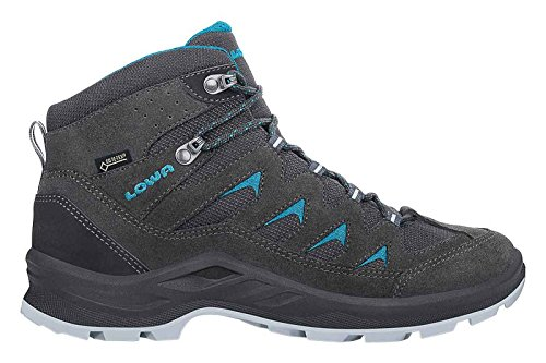 Lowa Levante GTX Mid Women Größe UK 7,5 anthrazit/türkis