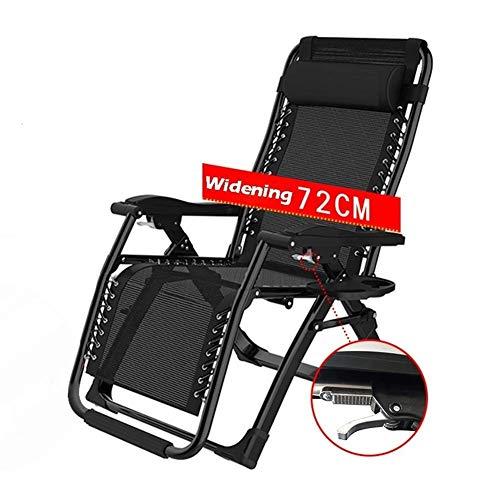 WJXBoos Cama Plegable de Camping para Silla de Ruedas, Adecuada para Veranda Porche de jardín Silla de Camping portátil Silla 65x75x115 cm Silla Multifuncional (Color: Negro)