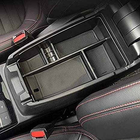 WENYOG Central Console Accoudoir Bo/îTe Bo/îte de Rangement Centrale Central Central Center Secondary Storage Center Organisateur Compatible pour Ford Escape 2020 Central Console Bo/îTe De Rangement