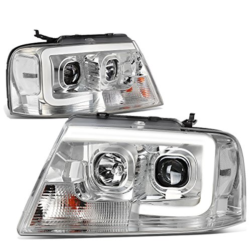 DNA Motoring HL-3D-G2-F1504-CH-CL1 3D LED DRL Projector Headlight[04-08 Ford F150]