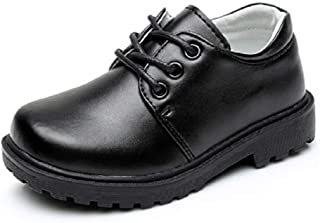 Ragazzi Scuola Derby Lacci Abito Scarpe Formali Bambini Neonato Boys Black