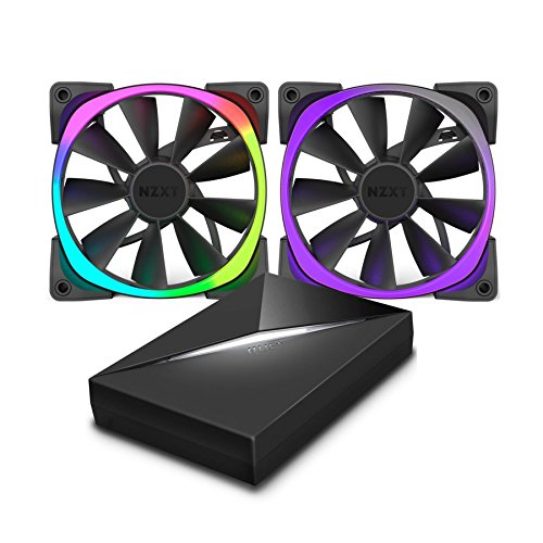 NZXT RF-AR120-C1 HUE+ & AER RGB120 Fans Bundle Pack RGB 2X 120mm AER Fans Included