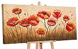 YS-Art | Dipinti a Mano Colori Acrilici Profumo dei Fiori | Quadro Dipinto a Mano | 120x60cm | Pittura | Dipinti Modern | Quadri Dipinti a Mano | Rosso