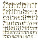 Tutoy 128Pcs Vintage Bronze Key Für Pendant Halskette Armband DIY Handgefertigte Accessoires Dekorationen