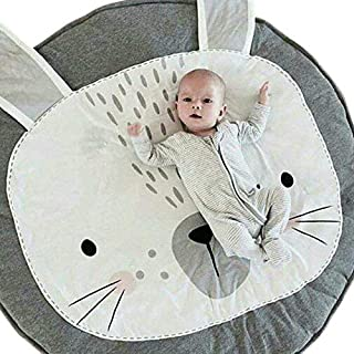 USTIDE Baby Play Mat Cotton Floor Gym - Non-Toxic Non-Slip Reversible Washable, Rabbit,37.4