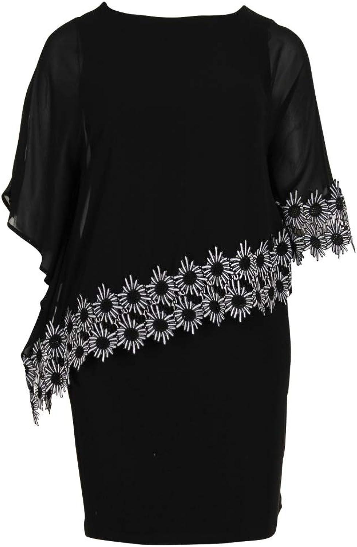 Joseph Ribkoff Black White Dress Style 191202