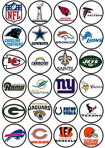 24 Muffin & Cupcake Aufleger Fondant NFL AMA1