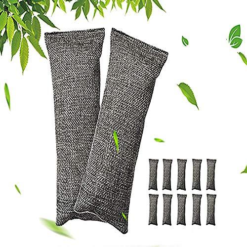 Deodorante per assorbitore di odori, borsa per purificatore d'aria a carbone attivo di bambù, deodorante per ambienti, deodorante per auto, per scarpe Cucina Bagno Frigo Boxing Gloves10pack