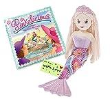 Ganz Muñeco de sirena para niñas con Pinkalicious y Aqua, el mini libro de sirena con pegatinas y etiqueta de regalo para niñas que aman las aventuras de sirena