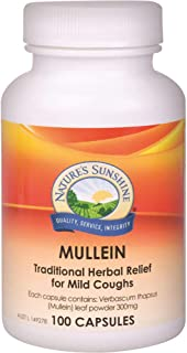 Nature's Sunshine 300mg Mullein 100 Capsules, 100 count