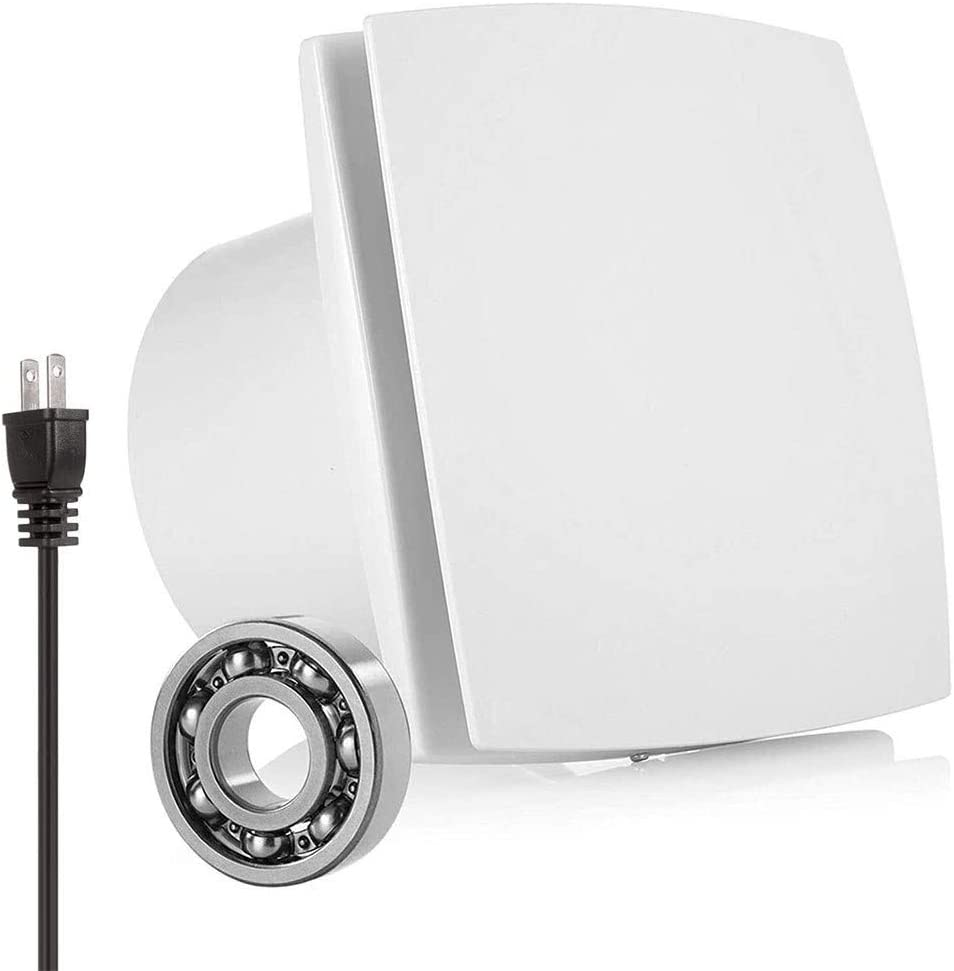 SHUKUILIUDT Ventiladores Extractor de Aire Techo del baño del hogar Extractor de Aire de la Pared del Inodoro Extractor de Aire Potente y silenciosa