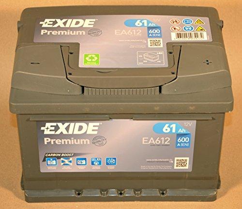 Preisvergleich Produktbild EXIDE EA612 PREMIUM CARBON BOOST 61 Ah 600 A AUTOBATTERIE PKW KFZ BATTERIE STARTERBATTERIE BATTERIE ERSETZT 55-AH 56-AH 58-AH