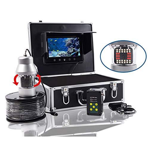 STHfficial 9-Zoll-Unterwasserfischen-Videokamera Mit WiFi-Funktion Können 20m Tragbare IR-Scheinwerfer des IR-Scanners Weiße Lichter Frei Schalten