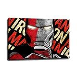 Ironman Bild auf Leinwand - 100 x 70 cm - Fertig gerahmte