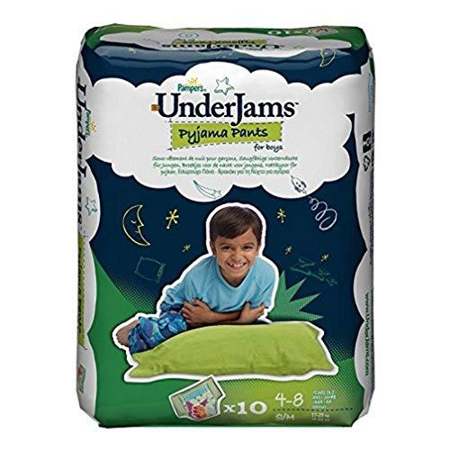 Pampers Windeln UnderJams Gr. S/M Boy 17-29kg, 4er Pack (4x10 Stück)