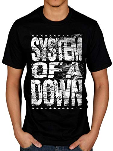Officiel System of A Down Distressed Logo T-Shirt