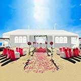 La fete Outdoor 10'x30' Outdoor Gazebo Canopy Wedding Party Tent with 5 Removable Walls, Easy Setup Gazebo BBQ Pavilion Canopy Cater Events