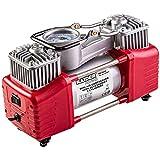 RZ TOOLS Compresor de Aire 12V Profesional [Doble PISTÓN] 300W 70L/Min. Coche, Furgoneta y Moto [ Estuche + Accesorios ]