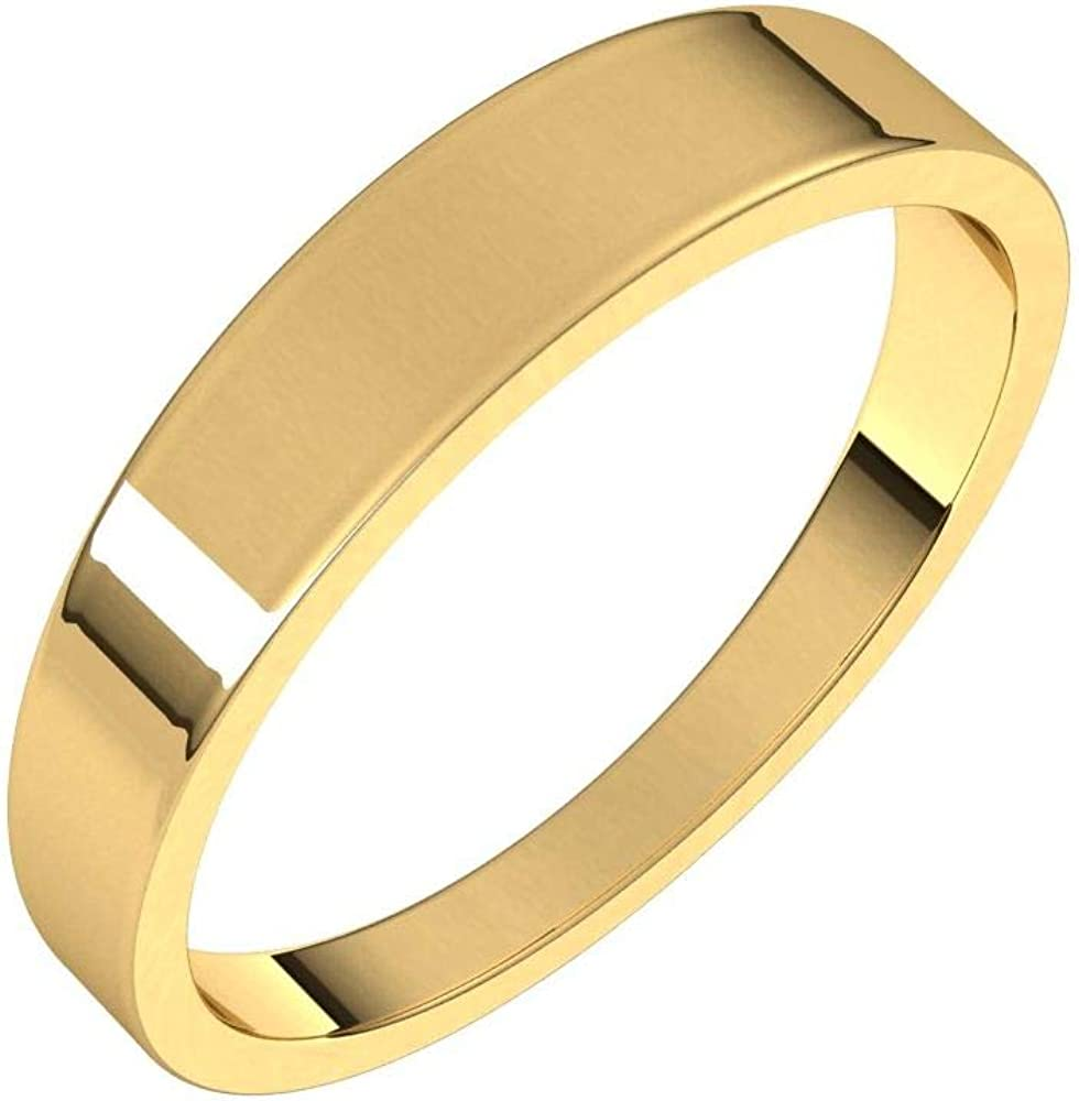 Flat Wedding Dedication Band Tapered Free shipping New Solid 925 Sterling Real Silver 10k 14k