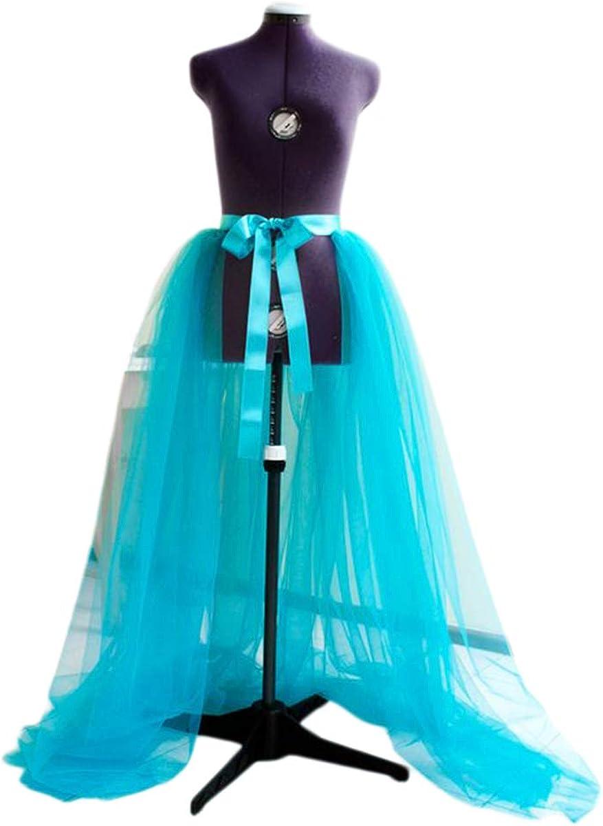 Women Three Layers Wedding Party Prom Tulle Sashes Skirt Long High Waist Skirt Mesh Dress