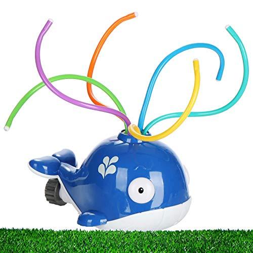 Jean Vallier Wassersprinkler Wal (blau) Wasserspielzeug Wassersprühspielzeug für Sommer Pool Garten Badewanne Outdoor-Spielzeug Rasensprenger