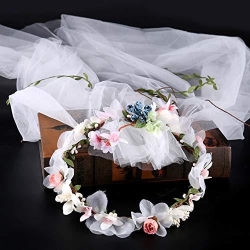 Jezus Liefde U Garland sluier foto Accessoires Stof Bloem sluier Haarband Bruids Hoofdtooi Bruiloft Bruids Haar Accessoires