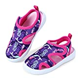 tombik Toddler Sandals Girls Aqua Water Shoes for Beach Pool Swim Walking Purple/Fushia/Mermaid 5 US Toddler