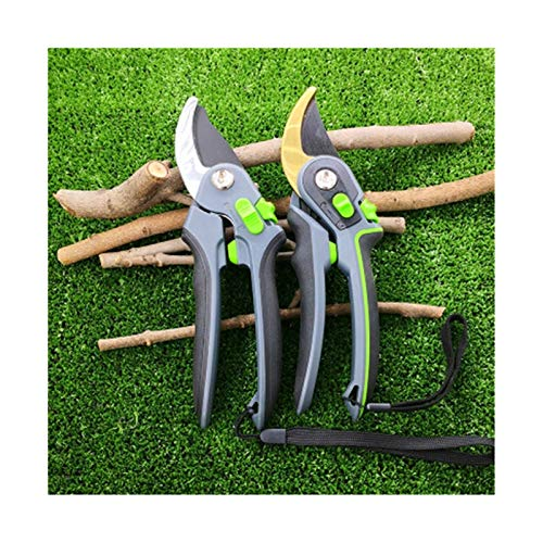 Youpin Prácticas herramientas de jardinería tijeras de poda, que pueden cortar ramas de 28 mm de diámetro, árboles frutales, flores, ramas y tijeras (color oro)