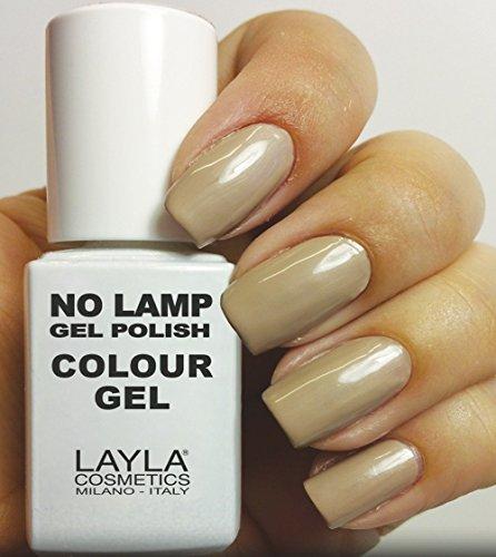 Layla Cosmetics Milano no Lamp Gel Polish Smalto per unghie Dirty Vanilla