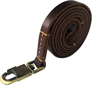 teck Genuine Leather Dog Leash Heavy Duty Leather Dog Leash Leather Dog Lead for Extra Large Dogs