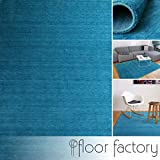 floor factory Gabbeh Teppich Karma türkis blau 80x150 cm - handgefertigt aus 100% Schurwolle