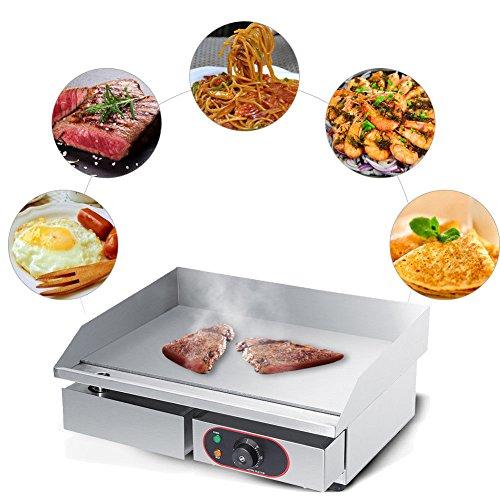 Piastra Elettrica da Cucina Panini Maker/Griglia, Pressa a sandwich, Griglia elettrica,3000W,55cm in Acciaio Inossidabile